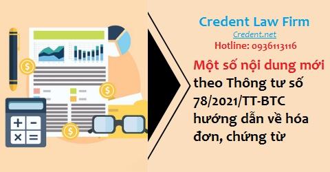 Giới thiệu một số nội dung mới theo Thông tư số 78/2021/TT-BTC hướng dẫn về hóa đơn, chứng từ