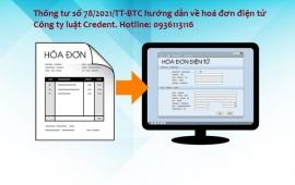 Thông tư số 78/2021/TT-BTC quy định một số nội dung về hóa đơn điện tử